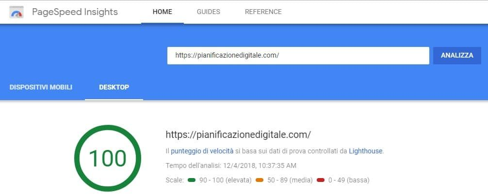 pagespeed insight google desktop